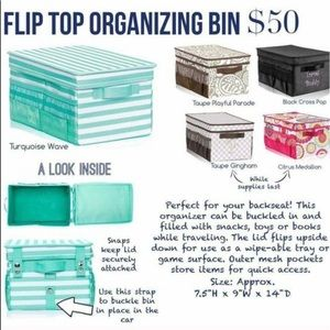 "thirty-one Storage & Organization - Thirty-One Flip Top Organizing Bin ""Kids Stuff"""